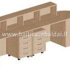 Stalas su recepcija (dviejų darbo vietų), 2200x600x1045h